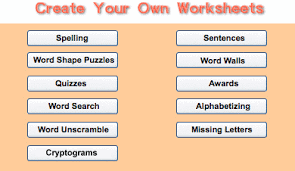 SchoolExpress.com - 17000+ FREE worksheetsCreate Your Own Worksheets