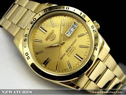buy seiko 5 gold tone automatic day date mens watch snke06j1 seiko 5 gold tone automatic day date mens watch snke06j1 snke06