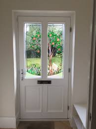timber entrance doors bespoke stained glass