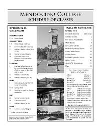 Make College Schedule Online Class Schedule Mendocino College