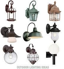 inspiration board of outdoor lighting ideas