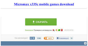 Micromax x335c mobile games download ...