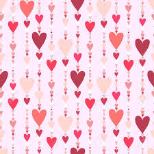 Hearts Seamless Pattern Striped Love Hearts Background Red