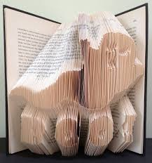 ghost book folding pattern diy template with 234 folds 468 pages full instructions included no mering required by looksinviting on etsy