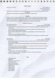 Sample Security Officer Resume Security Guard Resume Example For Microsoft Word Doc
