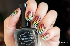 Nail Art │ My signature style Stamping over gradient using Born ...