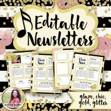 Music Newsletter Templates Newsletter Templates Chic Glam Editable Music Templates By