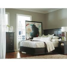 Stanley Bedroom Furniture Stanley Furniture Transitional Queen Panel Bed With Wood Veneer