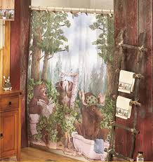 Shower Curtains Cabin Decor Lodge Shower Curtain W Bears Free Image