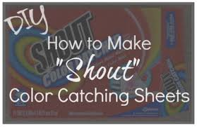 Diy How To Make Your Own Shout Color Catching Laundry Sheets