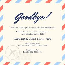 invitation for a party farewell party invitation templates canva