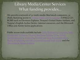 Ppt The Library Media Center Any High School New York Powerpoint