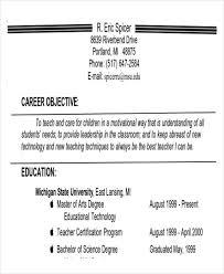 sample resume objectives for teaching profession resume objective teacher resume  objective career objective teacher sample resume