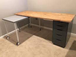 ikea tables office. Ikea Office Table. IKEA Hack Rolling Desk Table Tables