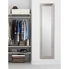 brandtworks modern silver grain full length framed mirror