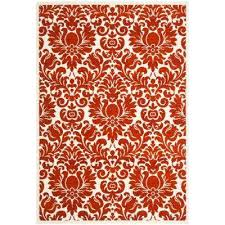 porcello red ivory 5 ft x 8 ft area rug
