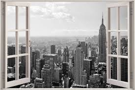 Huge 3D Window New York City View Wall ...