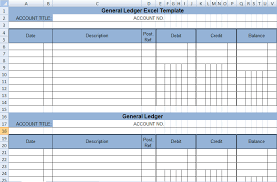 excel general ledger get general ledger template in excel xls exceldox excel project