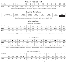 Womens Blazer Size Chart Fit Guide Executive Apparel