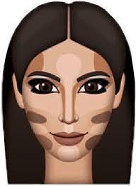 kimkardashian kimoji makeup emoji ftestickers freetoedi kimoji face 413x564 png