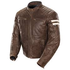 joe rocket men s classic 92 brown cream leather jacket
