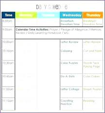 Daily Activities Template Daily Activity Planner Template Schedule Layout Excel Free
