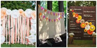 wedding backdrops fabric and pennants dinner 4 two