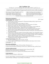 Briliant Property Cv Examples Gallery Of Assistant Property Manager