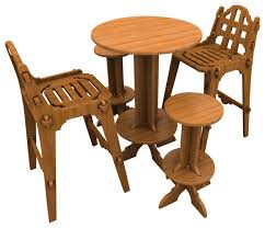 palladian bamboo bar set with chairs stools and high top table