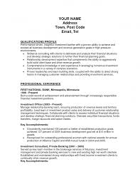 Present Tense Investment Banking Resume Perfect Resume Format