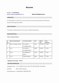Resume For Freshers 100 Format Of Resume For Fresher Teacher