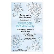 Frozen Birthday Invitations Fancy Frozen Birthday Invitations