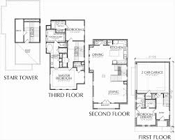 2 y house plans with decks inspirational 3 story townhome floor plan with roof deck