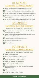 Bathroom Cleaning Checklists For 10 Minutes 30 Minutes Or 1 Hour Apartment Therapy