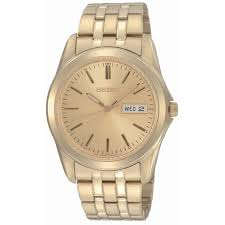 men s seiko watches h samuel seiko men s gold plated bracelet watch product number 6743447