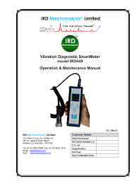 Ird Mechanalysis Vibration Chart User Manual Ird Mechanalysis Limited Manualzz Com