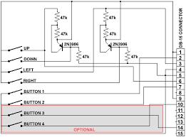 joystick pc gameport � allpinouts joystick schematic diagram digital joystick diagram