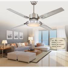 bedroom ceiling fans with remote control. Delighful Control Aliexpresscom  Buy LED Ceiling Fan Lights Restaurant Bedrooms Modern  Lamps Fans Remote Control Simple Fashion Stainless Iron Leaves From  Inside Bedroom Ceiling Fans With Remote Control G