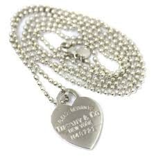 tiffany co tiffany return toe heart ball chain necklace uni silver silver 925 accessories