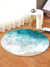 round floor rugs fashion beach wave pattern anti skid round floor rug ikea floor rugs malaysia