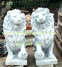 large lion garden statue outdoor of lions a pair marble statuary statues stone lions statue marble set lion statuary outdoor