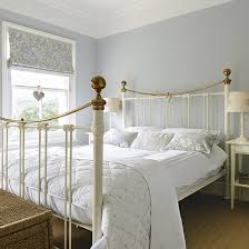 Pale Blue Bedroom With Traditional White Bed Frame | Country Bedroom Ideas  | Bedroom | PHOTO GALLERY | Style At Home | Housetohome.co.uk