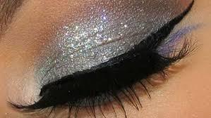 silver eye makeup shimmery eye make up