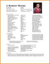 Performance Resume Art Resume Examples