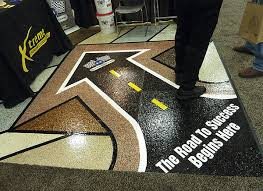 to show off their materials to potential customers xtreme engineered floor systems decked out a