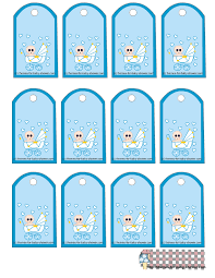 Personalized Baby Shower Square Labels And TagsBaby Shower Tag