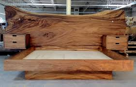 Platform bed with floating nightstands Teak Platform Monkeypodheadboardkingbed2jpg Bjorling Grant Monkeypod Headboard And King Platform Bed With Floating Nightstands