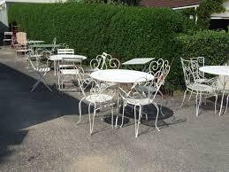 white wrought iron garden furniture. Outdoor \u0026 Garden: White Colored Wrought Iron Patio Furniture Group Sets - Chaise Garden L
