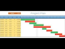 How To Create A Basic Gantt Chart In Excel 2010 Youtube