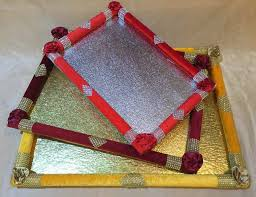 Saree Tray Decoration Cool Buy Saree Packing Flower Tray From Rishabh Enterprises Delhi India